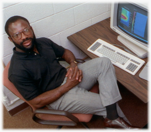 Philip Emeagwali in his office